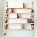 Boekenplanken in de woonkamer